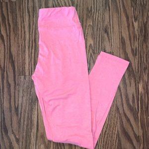 LuLaRoe Bubblegum Pink Leggings One Size New
